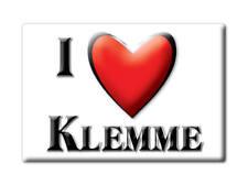 SOUVENIR USA - IOWA GIFT FRIDGE MAGNET AMERICA I LOVE KLEMME (HANCOCK COUNTY)