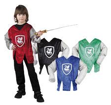 Costume de chevalier Haut drachen122-128 4-6 ans bleu, rouge, noir/vert 4402