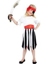 Girls Pirate Costume- Dress & headband-ages 4-6. 7-9. 10-12