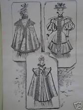 Old Fashion Print-Nuevo Otoño mantos 1893