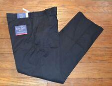 Croft & Barrow Parte Delantera Lisa Corte Holgado Vestido Negro Pantalones