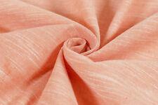 Dyed 100% Linen Look Slub Cotton Fabric - Orange Colours (Per Metre) Indian