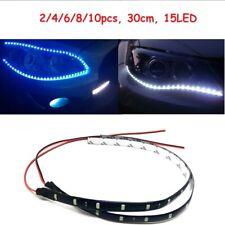 30CM 15 LED Car Flexible Strip Home Decoration White Light Lamps 12V Waterproof