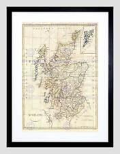 1799 clement CRUTTWELL map scotland vintage noir encadré art imprimé B12X2139