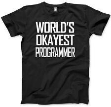 World's Okayest Programmer Mens Unisex T-Shirt