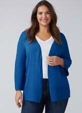 LANE BRYANT ~NWT! 14 16 18 20 22 24 ~Blue Iolite OTOOMAN STITCH Cardigan Sweater