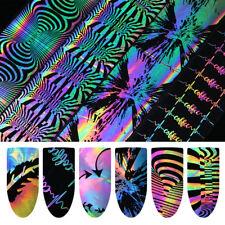 4*100cm 6 Pattern Holographic Nail Foil Laser Manicure Nail Art Transfer Sticker