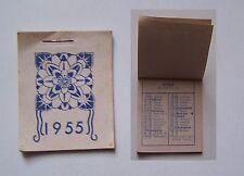 idée cadeau anniversaire : minuscule calendrier 1955