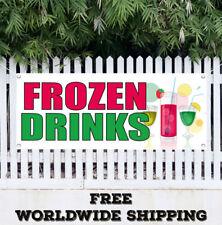 Banner Vinyl Frozen Drinks Advertising Sign Flag Many Sizes
