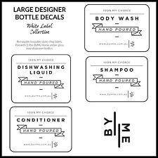 Designer bottle labels / decals - White label collection (Large)