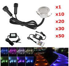 RGB 31mm 12V LED Einbaustrahler Treppen Bodenleuchte Küche Außen Lampe Dimmbar