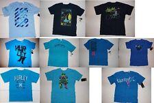 Hurley Boys Logo T-Shirts Black Sizes S 8, M 10-12, L 14-16 and XL 18 NWT