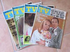 AR737 BLOCCO N. 4 PEZZI TV SORRISI E CANZONI ANNO 1968