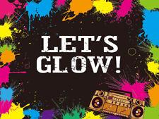 Let's Glow Neon Party 10X8FT Splatter Vinyl Backdrop Studio Background Photo