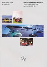 Mercedes Vito Sprinter Kombi Personentransporter Prospekt 11/97 brochure 1997