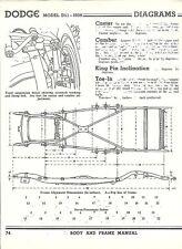 1939 Dodge Model D11 NOS Frame Dimensions Align Specs