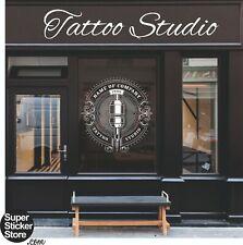 Tattoo Shop Studio Window Stickers Wall Decal Vinyl Art Logo Advertising Retail