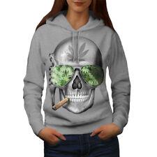 Mujeres Esqueleto humo Hierba Con Capucha Nueva | wellcoda
