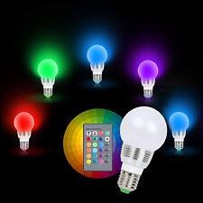 7W RGB Magic 16 Multi Color Light Bulb E27 B22 + Wireless Remote Control 85-265V