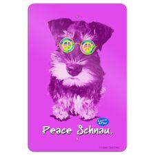 Peace Schnau Schnauzer Puppy Dog Retro Home Business Office Sign