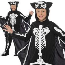 Bat Skeleton Costume Halloween Boys Childrens Child Kids Fancy Dress 4-12