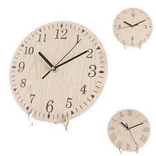 23cm 9'' Round Wooden Wall Clock Vintage Retro Antique Distressed Chic Surprise