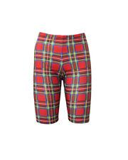 Classic Red Tartan British Printed Cycle Shorts