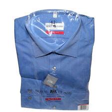 Business Hemd, Slim -Fit, 1/1,blau 100 % Baumwolle,bügelfrei,neu, OVP