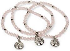 Perlen Armband Set Lebensbaum Charm Anhänger Gummizug Kugelarmband Schmuck Damen