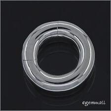 Sterling Silver Pearl Shortener Enhancer Push Click Clasp 15.5mm #97204
