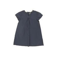 Petit Bateau robe  manches courtes bleu marine taille 2 ans