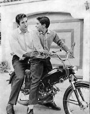 Photo Johnny Crawford and friend on his new motor bike 8b20-5035