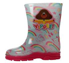 Hey Duggee Girls Pink Wellies Wellington Rubber Boots UK Sizes Child 5-10