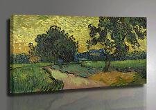 Vincent Van Gogh PAESAGGIO ALL'ALBA Quadro su Tela - Art Poster - Stampa su Tela