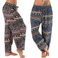 Paisley Motif Aladin Hippie Pantalon Pluder Nouveau été légère pantalon bouffant Haremhose