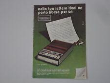 advertising Pubblicità 1974 GRUNDIG C 410 AUTOMATIC