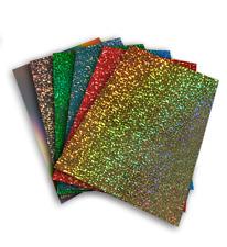 A4 Misti holograpic Pack-Vinile Trasferimento Ferro su fogli pressa di calore-Tessuto per
