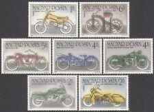Hungary 1985 Motorcycles/Motorbikes/Daimler/Harley/BMW/Transport 7v set (n34954)