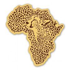 Cheetah Africa Shape Car Vinyl Sticker - SELECT SIZE