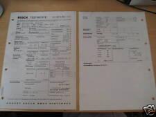 Glas 1700 TS u. 1700 GT Bj.ab 65-, orig. Bosch - Testwerteblatt