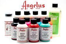 (2 Bottles) of Angelus Acrylic Shoes Boots Handbags Leather Paint Dye 1 oz