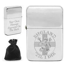 Personalised England 'Til I Die Lighter Rampant Lion Engraved Football Fan Gift