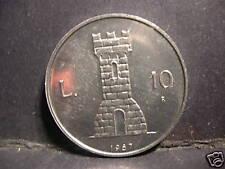 San Marino 10 Lire 1987  FDC ( UNC) Castello Serravalle