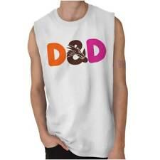 Dungeons Nerd DD Tabletop Gamer Geek Sleeveless T Shirts Tees Tshirts