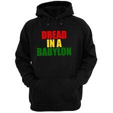 Sudadera con capucha Negro miedo en una Babilonia (Gildan Reggae Dub Jah Rasta U-Roy Marley)
