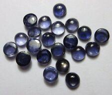 3mm - 10mm Natural Iolite Round Cabochon Calibrated Gemstone-Iolite Gemstone