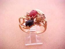 Estate Black Onyx Cornelian 18k Gold Electro Plated Gold Ring  Sise 7.1/2