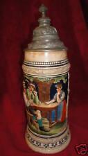 """THEWALT Vintage German Lidded Beer Stein 1L Musical 13"""" The Years Pass...."""