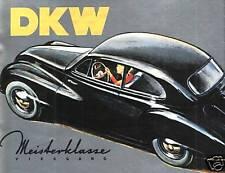 DKW MEISTERKLASSE 1953 PROSPEKT AUTO UNION LIMOUSINE