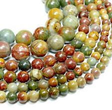 NEU Picasso Jaspis Perlen Kugeln 6 - 12 mm in Naturfarben, 1Strang Bacatus #3019